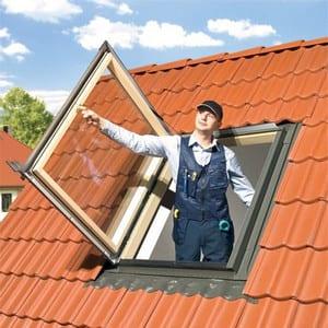 Окно-люк выхода на крышу