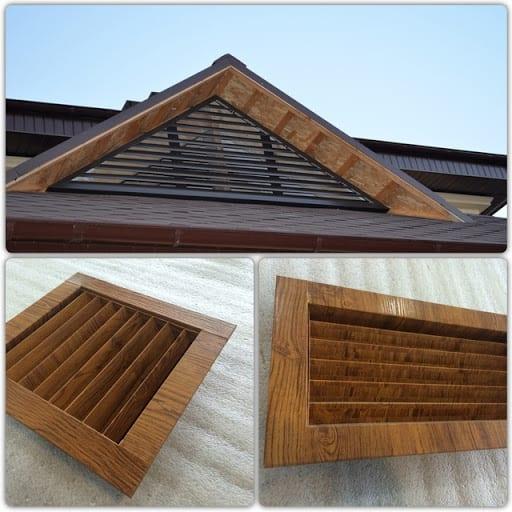 металлическая треугольная вентиляционная решетка