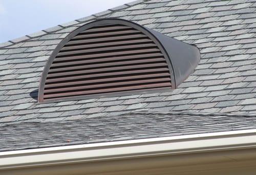 вентиляционная решетка для слухового окна полукруглая