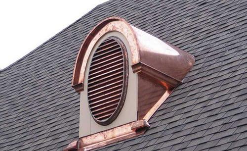 вентиляционная решетка для слухового окна полукрглая